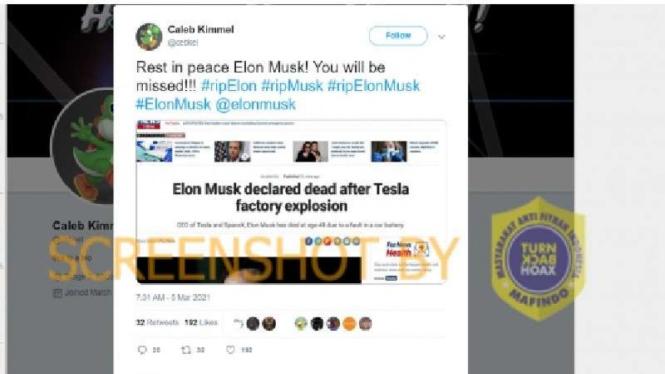 Kabar Hoax Elon Musk