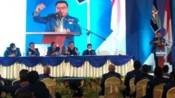 Kepala Staf Presiden, Moeldoko, dalam forum KLB Partai Demokrat di Deli Serdang.