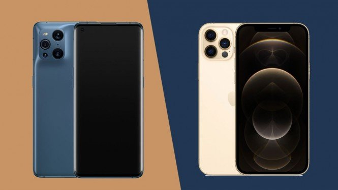 Oppo Find X3 Pro vs iPhone 12 Pro.