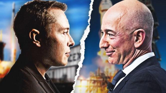 SpaceX vs Amazon.