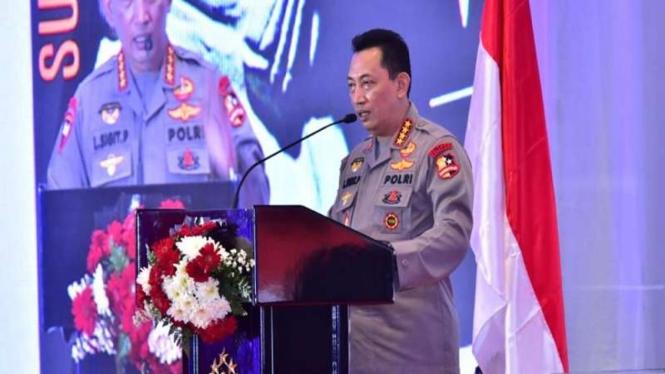 Kapolri Jenderal Listyo Sigit Prabowo membuka rakernis Baintelkam Polri