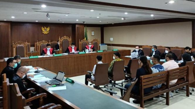 Sidang kasus korupsi eskpor benih lobster dengan saksi Edhy Prabowo dkk