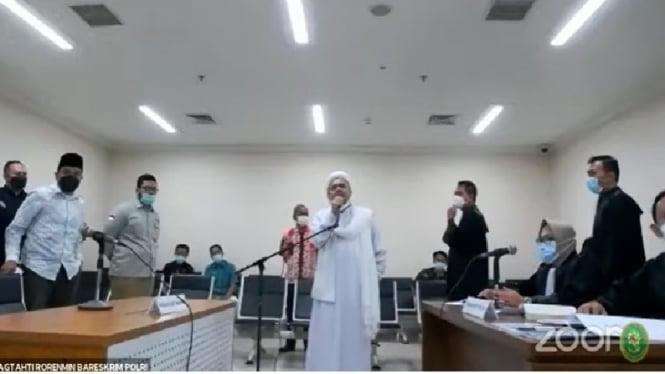Habib Rizieq jalani sidang dengan agenda pembacaan dakwaan