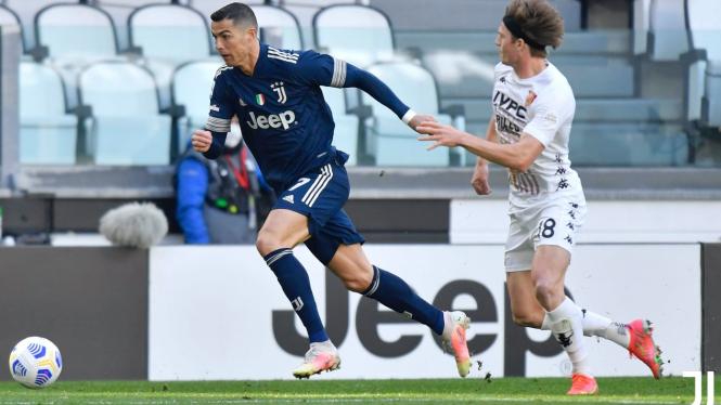 Cristiano Ronaldo saat Juventus vs Benevento