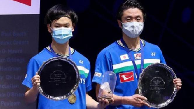 Ganda putra Jepang, Hiroyuki Endo/Yuta Watanabe juarai All England Open 2021.