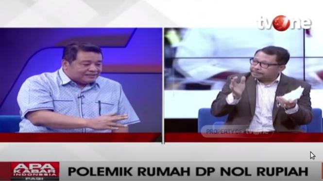 Debat Bestari Barus dengan politikus PDIP Gilbert Simanjuntak.