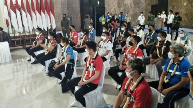 Tim Bulutangkis Indonesia tiba di Tanah Air