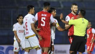 Pertandingan Persija Jakarta melawan PSM Makassar di Piala Menpora 2021