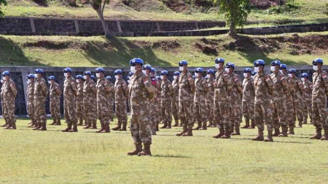 VIVA Militer: 146 Personel Garuda Satgas TNI XXXIX-B BGC/MONUSCO