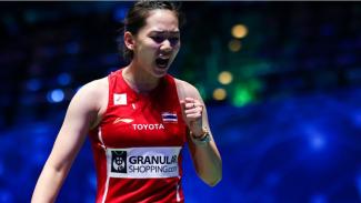 Tunggal putri Thailand, Pornpawee Chochuwong di All England Open 2021.