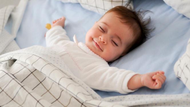Ilustrasi bayi/anak/anak tidur.