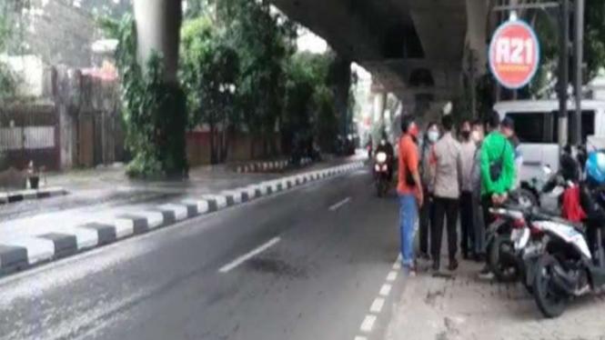 Lokasi sopir taksi dibegal di Antasasri Jakarta Selatan
