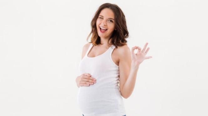 Ilustrasi hamil/ibu hamil.