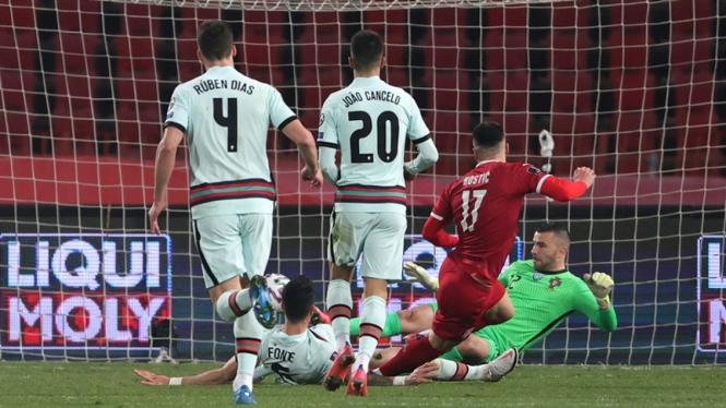 Pertandingan Timnas Serbia melawan Timnas Portugal