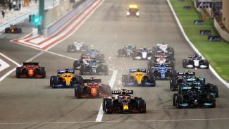Balapan yang berlangsung di GP F1 Bahrain 2021
