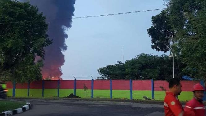 Kebakaran Kilang Minyak Pertamina di Balongan