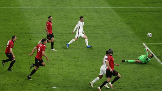 Pertandingan Timnas Inggris melawan Timnas Albania