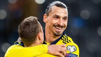 Striker veteran Timnas Swedia, Zlatan Ibrahimovic.