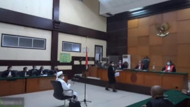 Sidang Habib RIzieq di Pengadilan Negeri Jakarta Timur