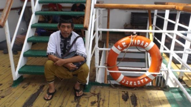 Mudik dengan kapal laut (dok Nur Terbit)