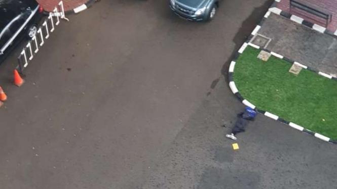 Terduga teroris ditembak saat masuk Mabes Polri