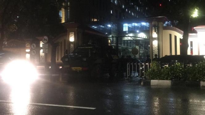 Kondisi pengamanan Mabes Polri pasca diserang terduga teroris.
