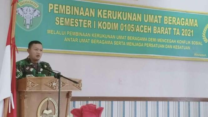 VIVA Militer: Dandim 0105/Aceh Barat Letkol Inf Dimar Bahtera