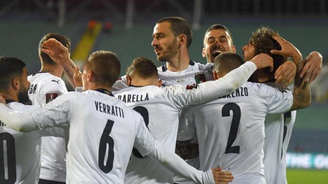 Selebrasi pemain Timnas Italia