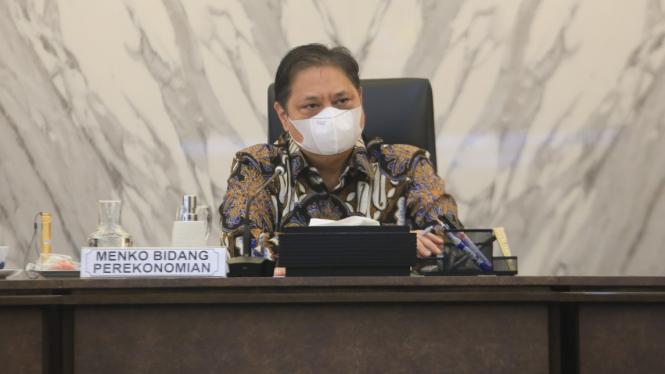 Anindya Bakrie Bertemu dengan Menko Perekonomian Airlangga
