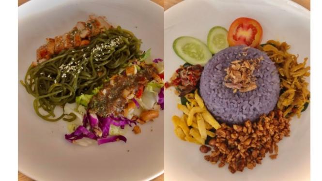 Mi shirataki ala Vietnam dan Nasi uduk telang