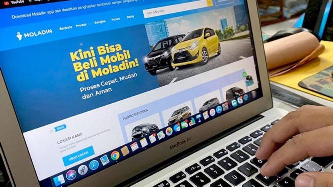Situs web moladin.com , kini dapat digunakan untuk membeli mobil baru. (Dok.Moladin).