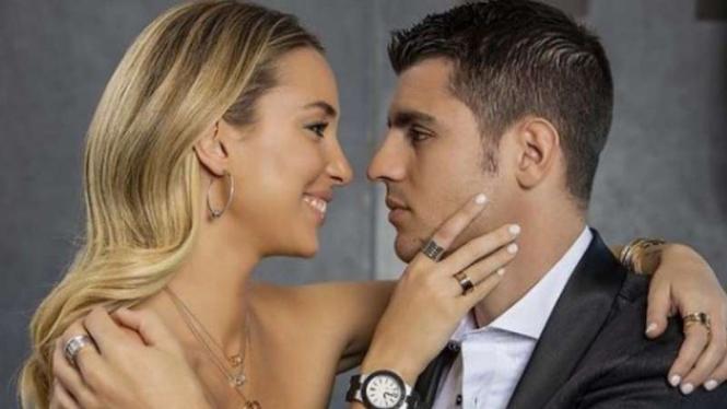 Alvaro Morata dan sang istri, Alice Campello.
