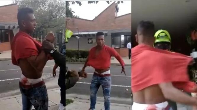 Eks pemain Inter Milan, Fredy Guarin ketika diamankan polisi