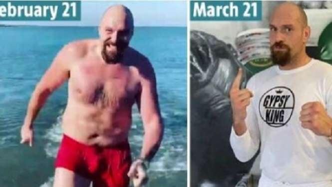 Perubahan luar biasa bentuk tubuh Tyson Fury
