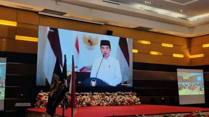 Presiden Jokowi beri sambutan di Tanwir I Pemuda Muhammadiyah