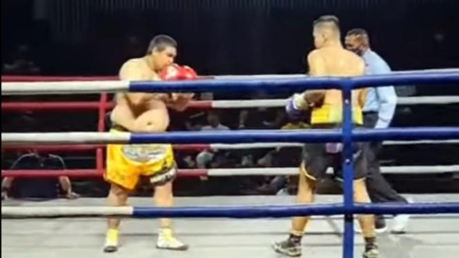 Pertarungan David Koswara melawan Alam Saputra