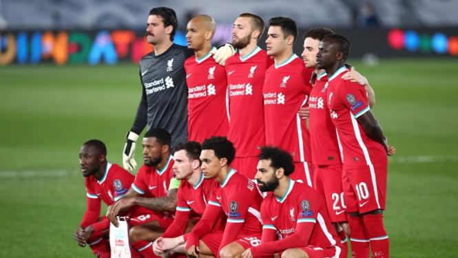 Skuad Liverpool ketika melawan Real Madrid