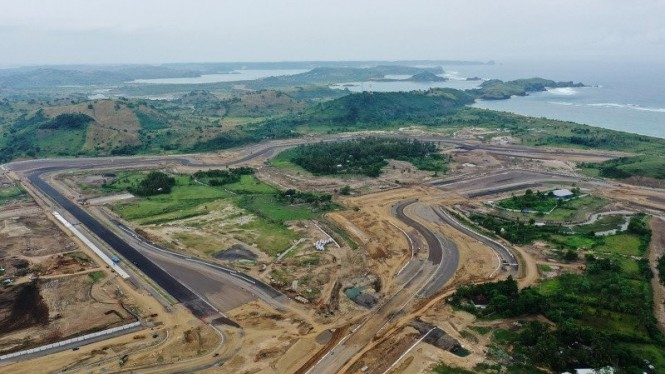 Proyek Mandalika International Street Circuit di Lombok Tengah, NTB.