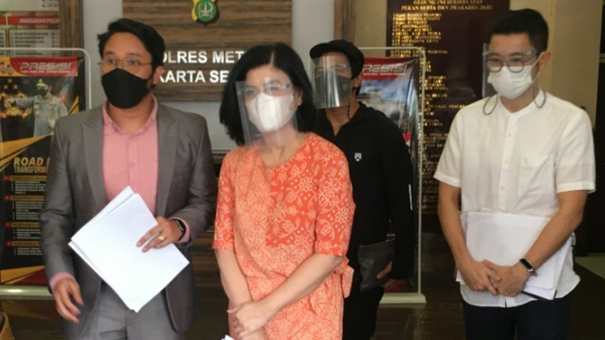 Desiree Tarigan di Polres Metro Jakarta Selatan.