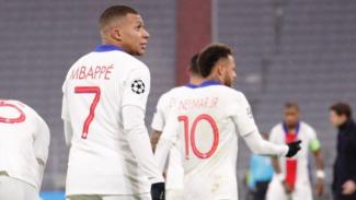 Kylian Mbappe saat membela Paris Saint-Germain melawan Bayern Munich
