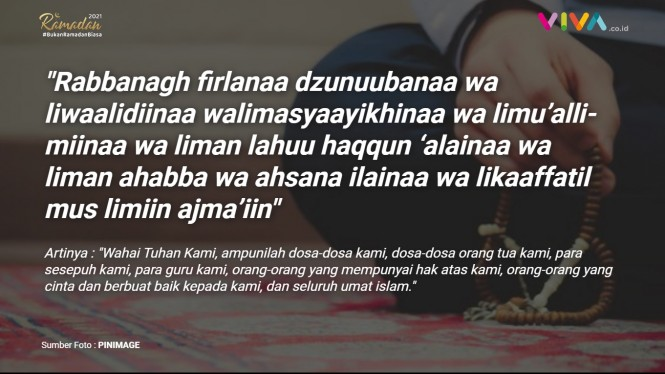 Doa dan inspirasi Ramadan.