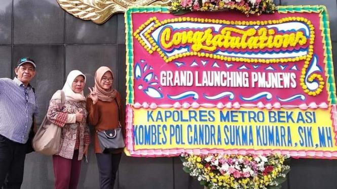 Launching Website Polda Metrojaya (dok Nur Terbit)