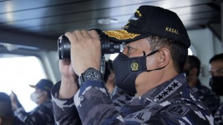 VIVA Militer: KSAL pantau latihan gabungan TNI AL di perairan Natuna