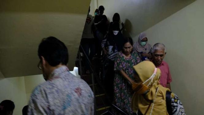 Pengunjung Hotel Aria Gajayana, Malang panik menyelamatkan diri karena gempa