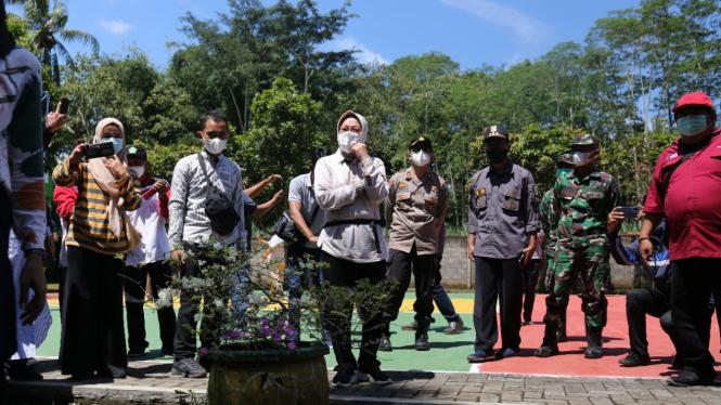 Mensos saat di MAN 2 di Desa Pagedangan, Kecamatan Turen,  Kabupaten Malang.