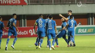 Selebrasi pemain Persib Bandung
