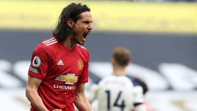 Striker Manchester United, Edinson Cavani