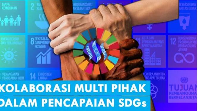 Ilustrasi Kolaborasi Multi Pihak Untuk Pencapaian SDGs (Sumber Gambar Pixabay yang telah diedit)