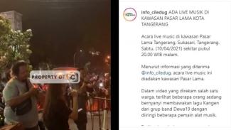 Viral video konser musik di Pasar Lama, Kota Tangerang.