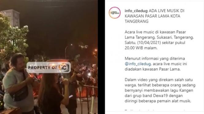 Viral, Konser Musik di Tangerang Saat Pandemi COVID-19